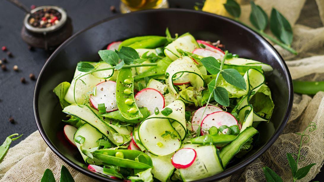 Σαλάτα με Αγγούρι και Φασόλια