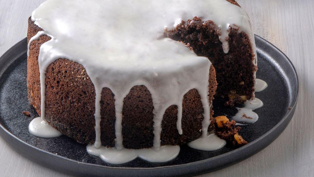 Βιεννέζικο Κέικ με Πορτοκάλι, Σταφίδες και Κουκουνάρι